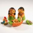 Hawaiian Ceramic Nativity - Petite