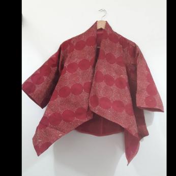 OPERA jacket - unique ltd. edition reversible silk kantha jewel tones
