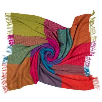 Southampton Home Merino Wool Geometric Block Throw (Brilliant)