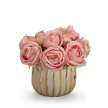 Rose Bouquet in White and Gold Container