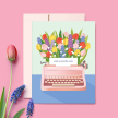 Colorful Typewriter Everyday Card