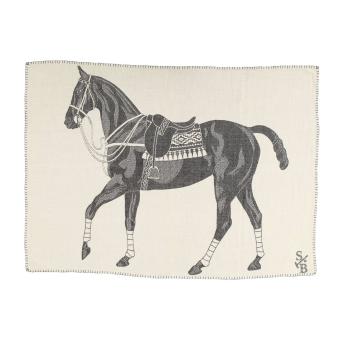 Polo Pony Throw - Charcoal