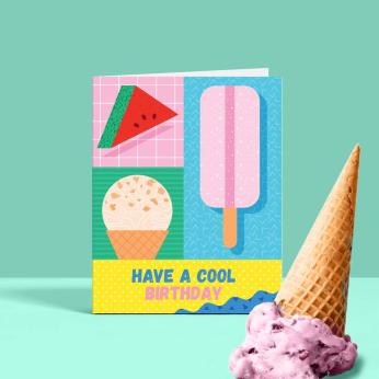 Cool Birthday, Birthday Card