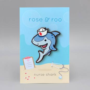nurse shark enamel pin
