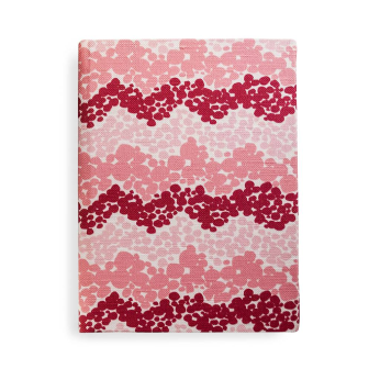 Bubbly Chevron Journal in Pink & Berry, unlined blank pages