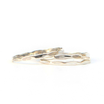 Sterling Stacking Rings - Waves