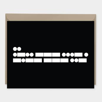 Morse Code I Love You Card