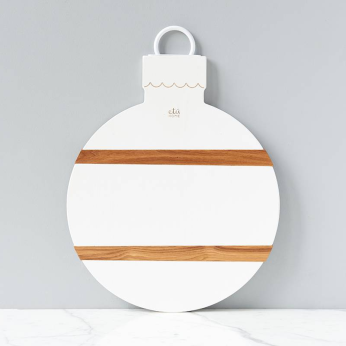 White Mod Ornament Charcuterie Board, Large