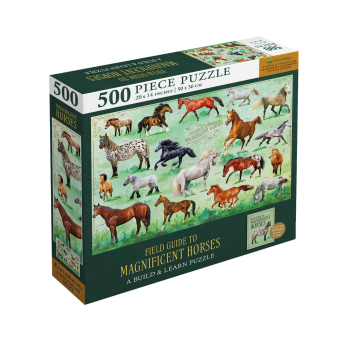 Magnificent Horses 500-Piece Puzzle and Booklet