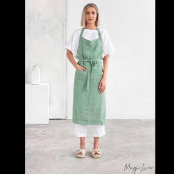 Linen bib apron