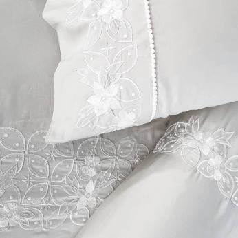 Grey Kawung Bedding Set