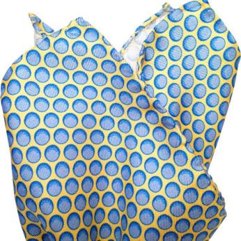 Blue (Golf) Ball Pocket Square