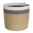 Cylinder Basket - Grey Jute Jungle