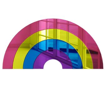 Rainbow Rainbow 3D Wall Decor | Bright Vibrant Acrylic Mirror Wall Art | Modern and Ready to Hang