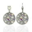 Contemporary Neutral Disc Earrings