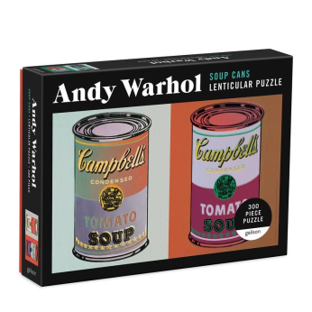 Andy Warhol Soup Cans 300 Piece Lenticular Puzzle
