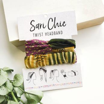 Sari Chic Twist Headband