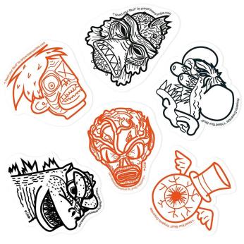 Movie Monsters Sticker Pack Kit