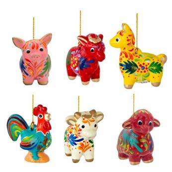 Farm Mini Mix - Confetti Ceramic Ornament (sold in 12's)