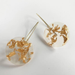 Eco-Resin Full Moon Ix Chel Earrings-Medium
