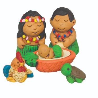 Hawaiian Nativity Petite Set