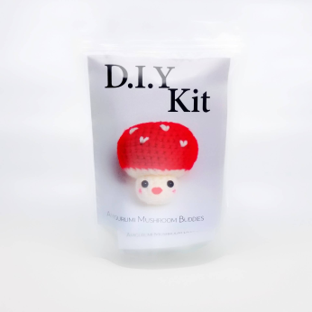 DIY Kit - Mushroom Bubbies (red)