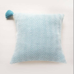 Handwoven Turquoise Roads Pillow