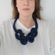 Rope Necklace - Navy Blue