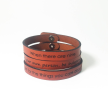 Ruth Bader Ginsburg Leather Quote Bracelets