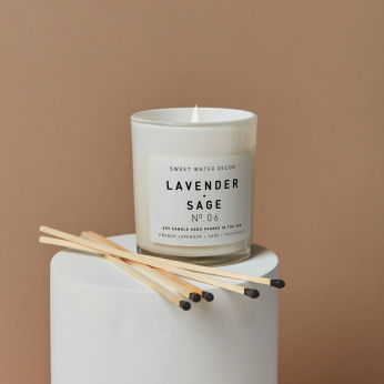 Summer + Spa White Jar Soy Wax Candles - Made In USA