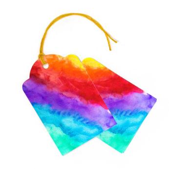 Rainbow Gift Tags, Set of 10