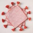 Handwoven Orange Coasters