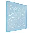 XOXO | Neon Acrylic Translucent Shadow Box