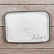 Shalom Rectangle Plate