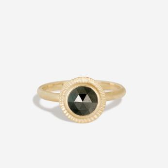 Black Diamond Burst Ring