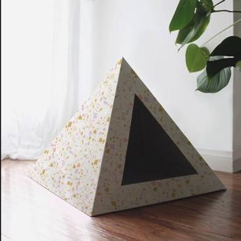 'Terrazzo' Cardboard Cat Pyramid