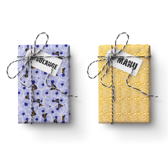 Solange-Manu Double Sided FOLKUS Gift Wrapping Paper