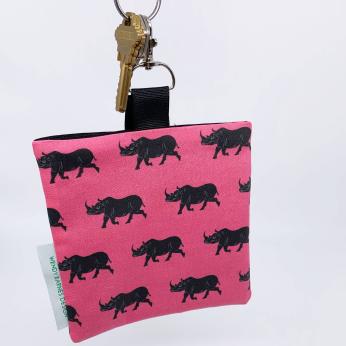 Rhino Keychain Bag - Endangered Wildlife