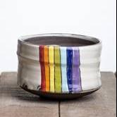 """""""Rainbow"""" Tea Bowl"""