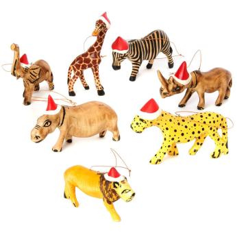 Santa's Little Safari Helpers Christmas Tree Ornaments