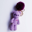 Keychain - Classy Bear (purple)