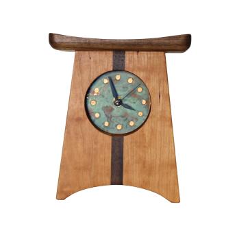 East of Appalachia Mantel Clock, Patina Verde Face