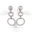 Diamond Triple Circle Earrings