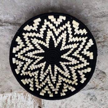 Sunburst monochrome wall basket