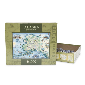 Hand-drawn map puzzle. 1000 pieces