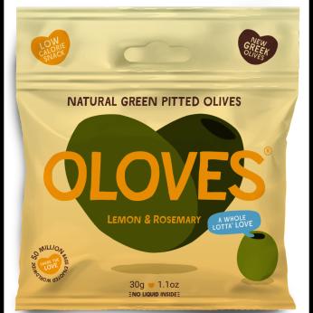 Oloves -  Lemon & Rosemary Pitted Green Olives 1.1oz