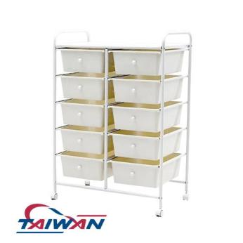 LV-C2W10 10 big drawers trolley