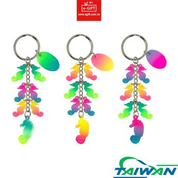 Seahorse 7 Charms Keychain/ Keyring/ Key Holder