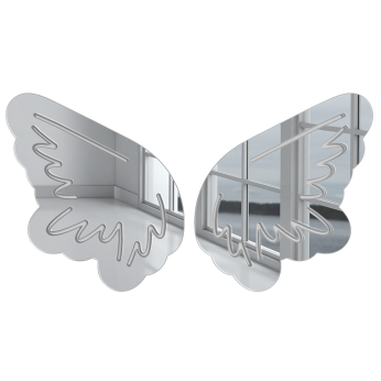Angel Wings 3D Wall Art | Fun Mirror Finish | Modern Silhouette Ready to Hang