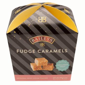 Baileys Irish Cream Flavored Fudge Caramels Carton